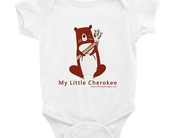 My Little Cherokee Infant Onesie- Bear Tsalagi Cherokee Designed