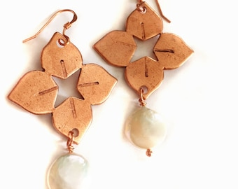 Dogwood Flower Earrings Tsalagi Cherokee Made
