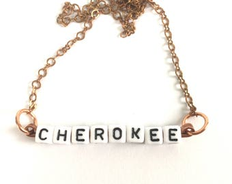 Cherokee Tile Necklace Tsalagi Cherokee Made