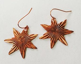 Radiant Seven Star Earrings Tsalagi Cherokee Made