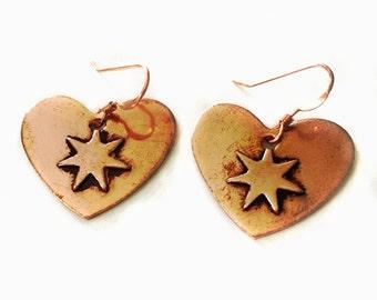 Copper Cherokee Love Tsalagi Earrings