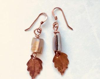 Ayoka Leaf Earrings Tsalagi Cherokee Made
