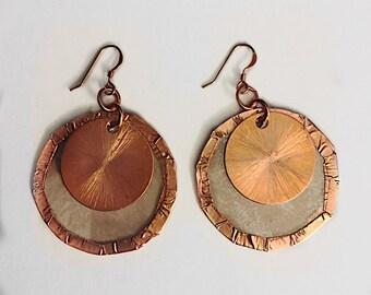 Cherokee Mica Sun and Moon Earrings