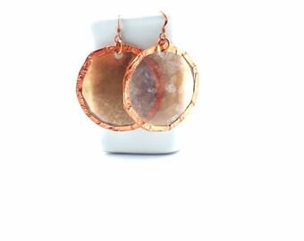 Mica Moon Earrings Tsalagi Cherokee Made