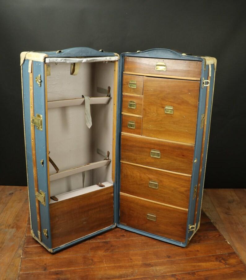 wardrobe with canvas brass and mahogany