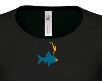 WOMAN T-shirt altosaxophone