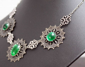 Medieval/Tudor Collier, necklace - Emerald