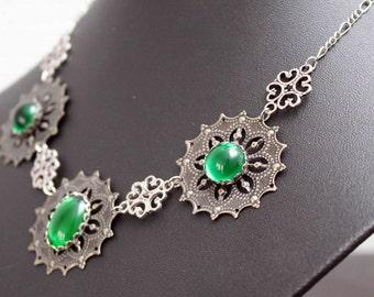 Medieval/Tudor Collier, necklace - Emerald