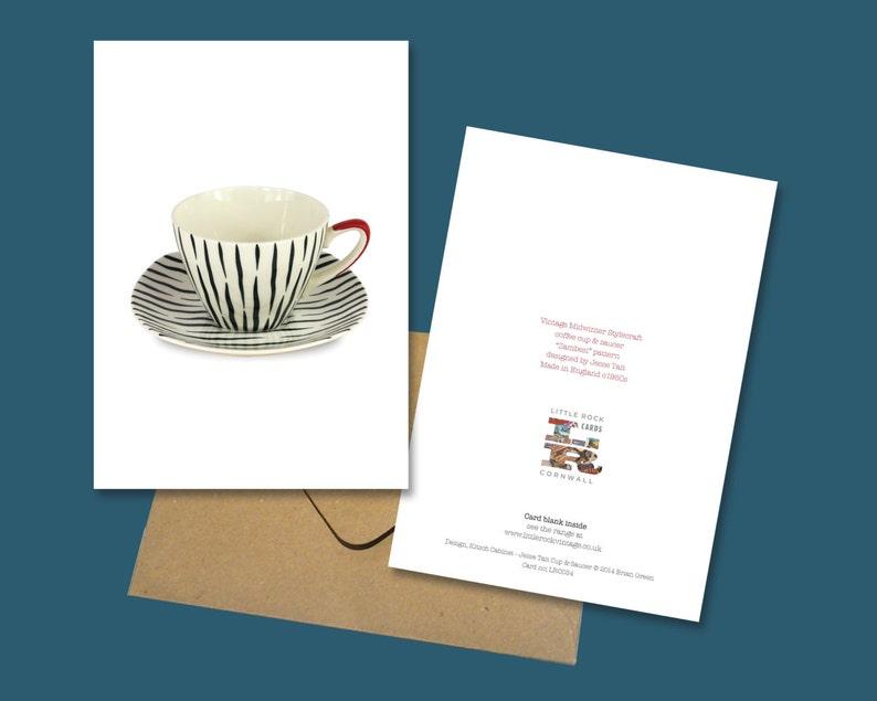 Zambesi /'Jessie Tait/' Vintage Cup /& Saucer Greetings Card 1950s