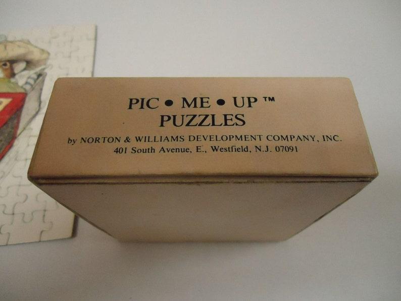 Vintage Pic me up puzzle Norton /& Williams Paw Prints 1976 Complete 7607-11