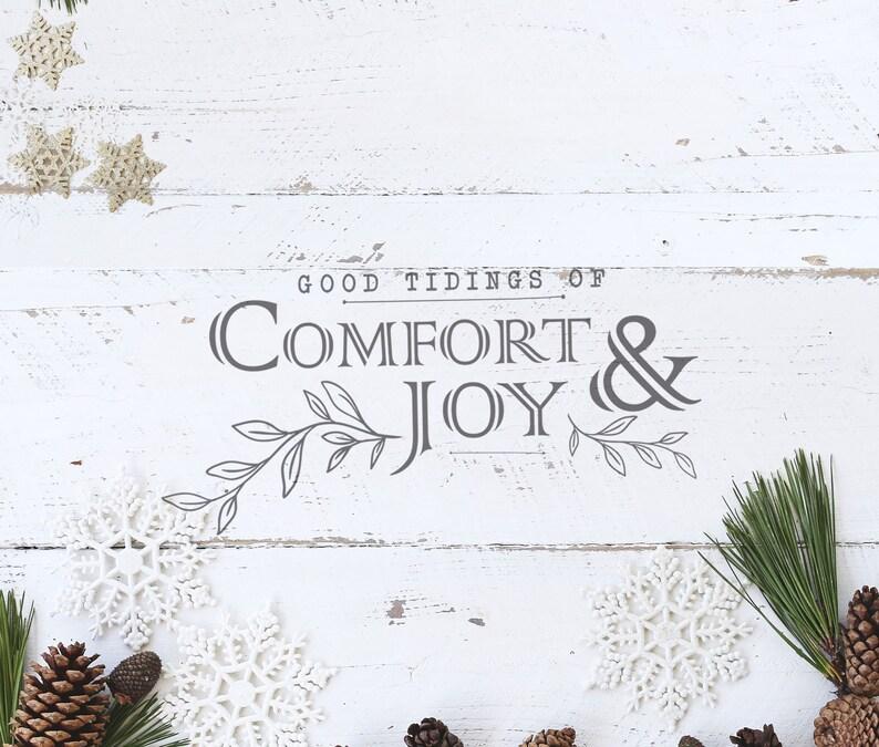 Rustic Christmas Svg Christmas SVG Farmhouse Christmas Sign SVG Vintage Christmas Sign Svg Comfort /& Joy SVG