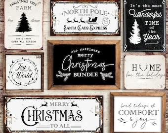 Christmas Bundle SVG - 30 DESIGNS - Farmhouse Christmas SVG -  Christmas svg - Farmhouse Sign Svg - Farm Fresh Svg - Christmas Trees Svg