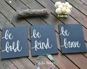 Value Pack - Set of 3 Dorm Room Decor 11 x 14 Canvas Paintings Black and White Inspirational Wall Art Wall Hangings Nursery Home Decor Gift