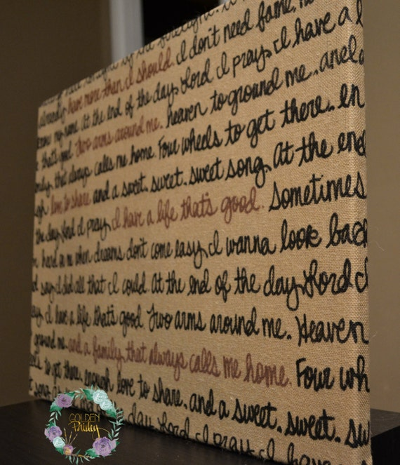 Burlap Wall Hanging Canvas Wedding Vow Decoration Wedding Song Etsy