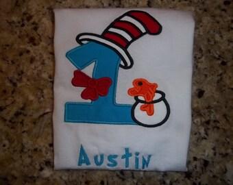 Dr. Seuss Inspired birthday shirt