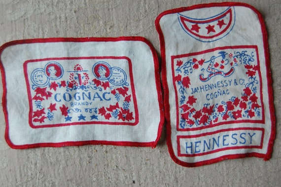 Hennessy Cognac Patches - Vintage Alcohol Advertis