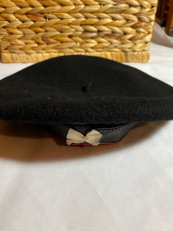 Vintage Black Basque Beret by Carbonne - image 8