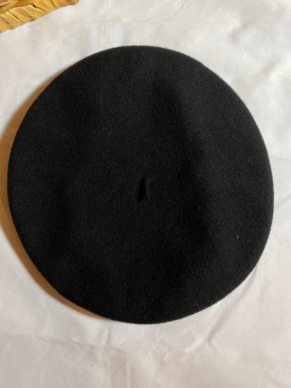 Vintage Black Basque Beret by Carbonne - image 2