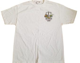 Vintage 90s Jimmy Buffett T-Shirt 1998 Parrothead Bar Exam Margaritaville  Sz L 4c6acc22a9dd