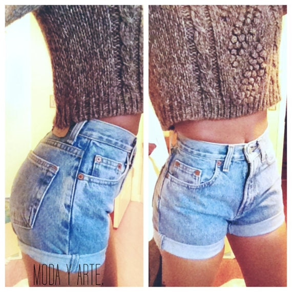 ORIGINAL BLUES High Waisted Shorts levis wrangler, gap, guess, lee