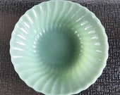 Anchor Hocking Shell Pattern Jade-ite Vegetable or Serving Bowl