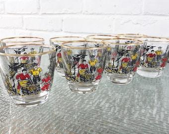 Libbey Glass Treasure Island Old Fashion/Rocks/Low Ball Glasses
