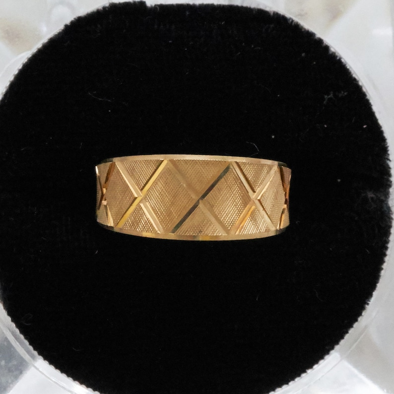 Gold X Band Ring Wedding Band Solid Solid 14K Gold Wedding Ring Gold Band Ring Anniversary Ring Size 6 Gift for Her