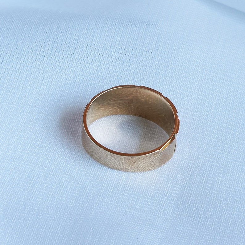 Anniversary Ring Gold Band Ring Gold X Band Ring Solid Solid 14K Gold Gift for Her Wedding Band Wedding Ring Size 6