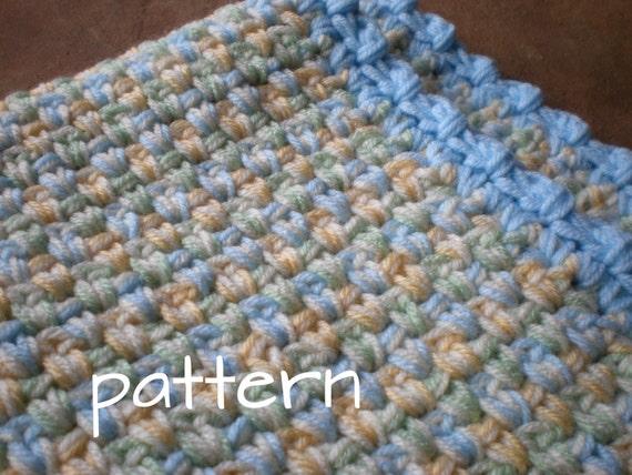 Easy Crochet Baby Blanket Pretty Pasterls Quick Cozy Pdf Etsy
