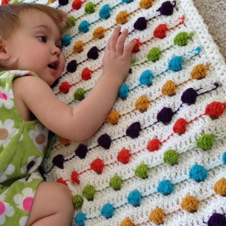 fcdc08ea59dc4 Crochet Blanket Pattern - Crazy for Polka Dots Baby Blanket