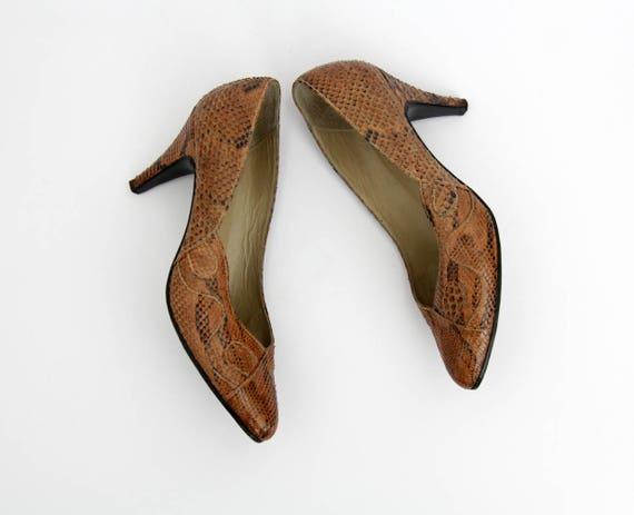 peau ann serpent Chaussures des de Vintage zXqwwSx5H