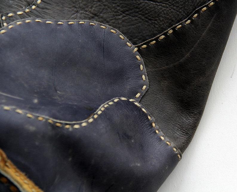 Vintage Backpack  Patchwork Leather Rucksack