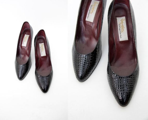 Lagerfeld 37 Chaussures Vintage 7 escarpins noir Karl taille TE7xSUw