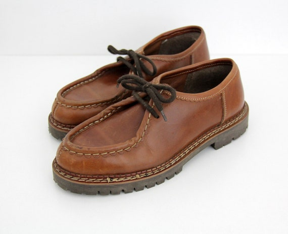 Vintage shoes // 90's brown chunky shoes // brown