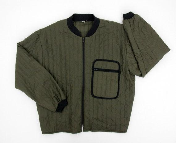 Vintage Jacket // Lightweight Quilted Army Liner J