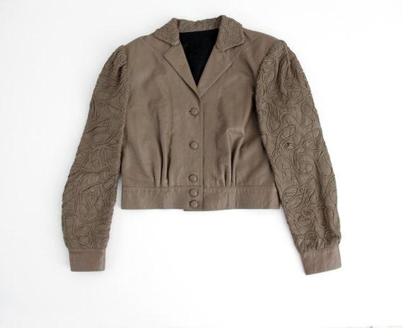 Vintage jacket // Braccialini 70s puffy sleeve tri