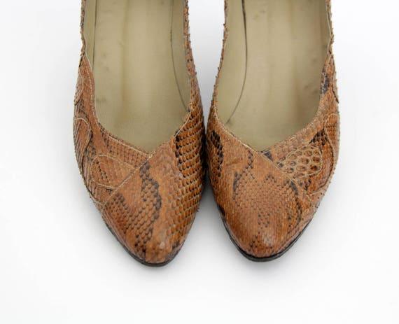 des peau de Chaussures serpent ann Vintage qOwBIBU7