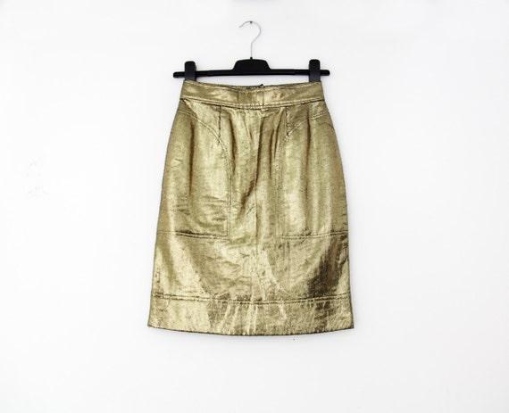 gold Vintage skirt pencil S skirt MOSCHINO size RqwqrSOEZ