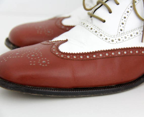 Vintage shoes Rossetti brown flats white Fratelli oxford and spectator 1rpxw1Enz