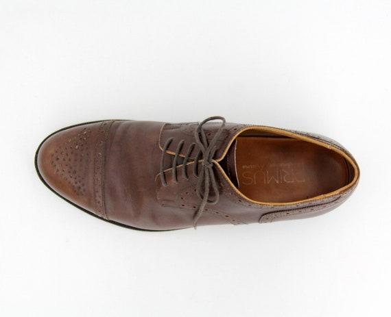 Vintage Men's Shoes // Handmacher Brown Leather Ca