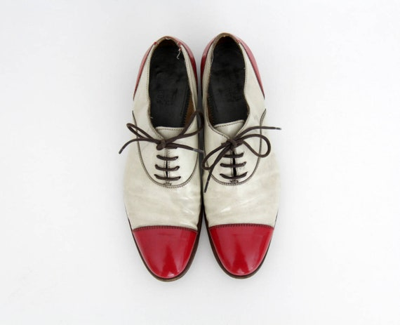 Vintage Shoes // Silvano Sassetti Red and White Pa