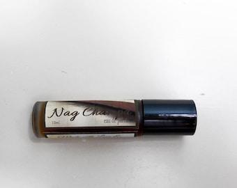 Nag Champa Perfume - Roll-On Perfume -  Jojoba Oil Parfume Oil - Perfume for Women - 10 ml Bottle