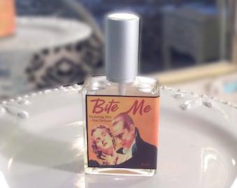 Bite Me Hair Perfume - Cherry, Vanilla & Berries - Hair Mist, Hair Milk or Hair Gloss Spray - Silk Protein, Horsetail Extract 2 oz