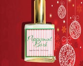 Peppermint Bark Hair Perfume - Chocolate and Candy Cane - Hair Mist, Argan Hair Milk or Argan Hair Gloss - 2 oz