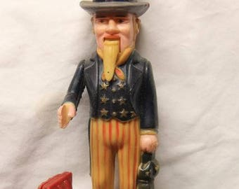 Uncle Sam coin bank, with moving arm