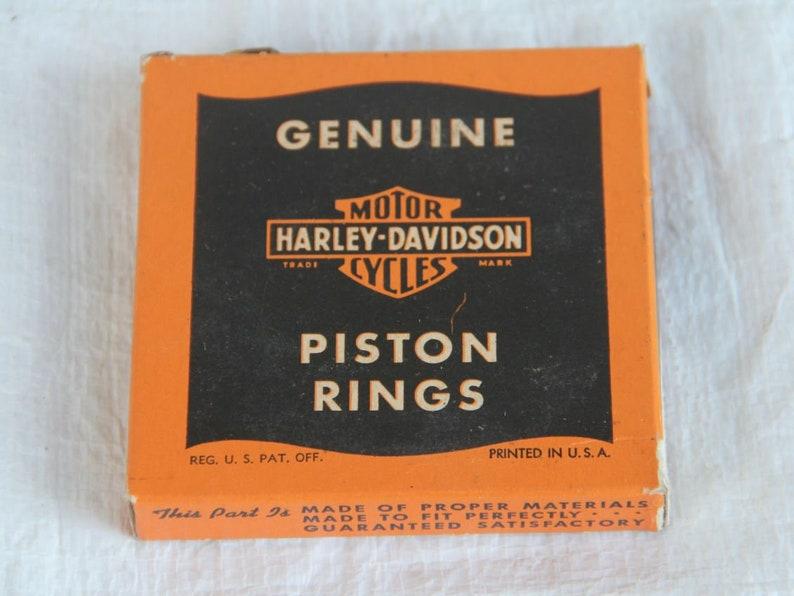 NOS Vintage Harley-Davidson piston rings in original box image 0