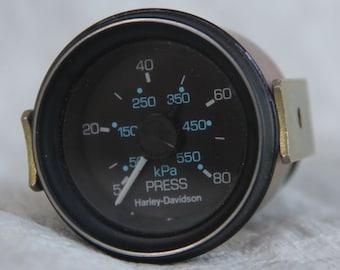 NOS Vintage Harley-Davidson oil pressure gauge!  Great Collectible!