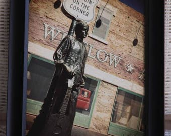 "Standing on the corner in Winslow, Arizona!  8x10 inch photo, from the park based on the Eagles hot song ""Take it Easy"""