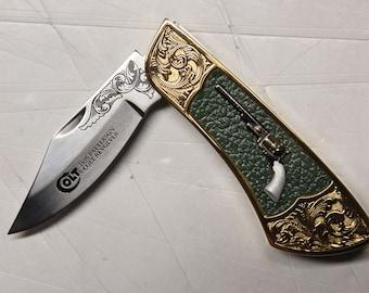 Colt 1836 Patterson Revolver collectors knife (N0162)