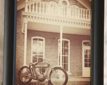Framed 8x10 inch photo of an 1914 Harley-Davidson